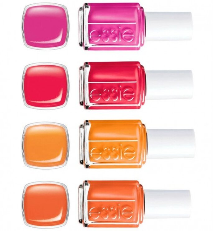 Pinturas de uñas en colores para verano marca Essie Poppy Razzi Collection - Foto: Essie