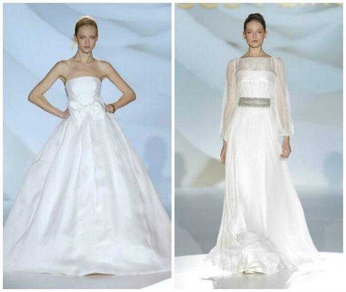 Свадебные платья с воланами от Jesús Peiró. Foto: Barcelona Bridal Week