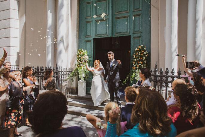 Marco Fardello Fotografo - sposi all'uscita della chiesa