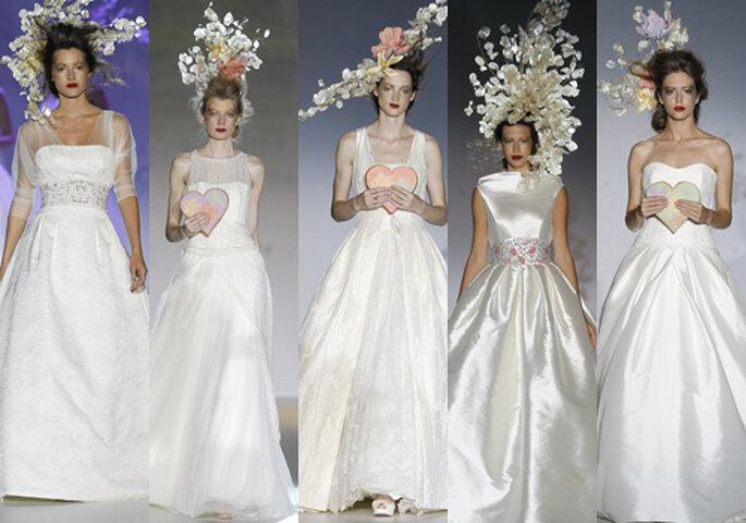 Tocados de la colección Raimon Bundó 2013. Fotos: Barcelona Bridal Week