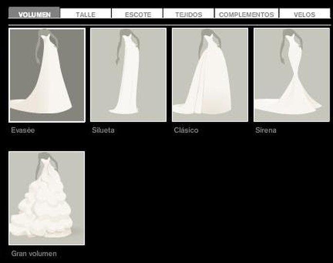 Desenhe o seu vestido de noiva online com pronovias for Disena tu habitacion online