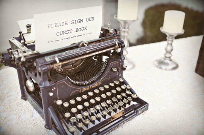 Livre d'or pour votre mariage : version machine à écrire !