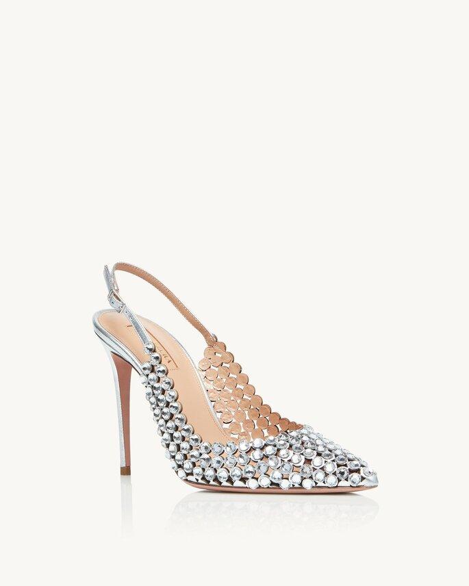Chaussures de mariée argentée