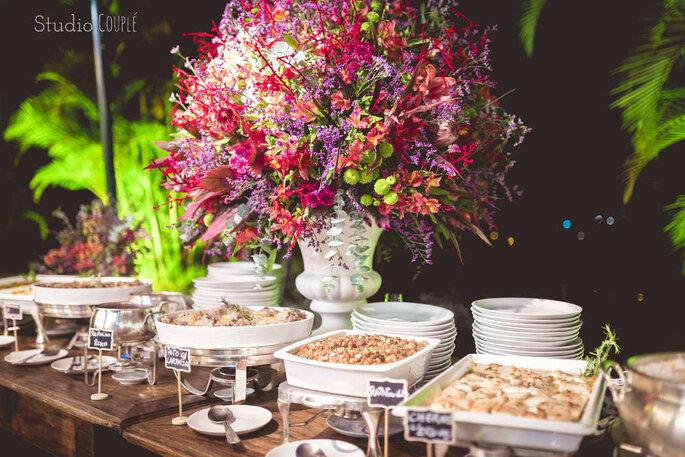Ilha gastronômica casamento
