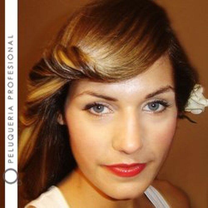Peinado y maquillaje de novia de Olga Ortega