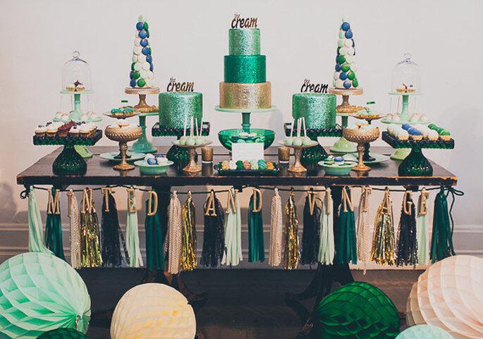 Una estética sensacional para una boda vintage con un toque glam - Foto Mr Haack