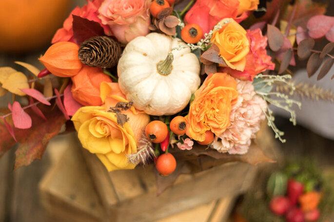 bouquet fleurs mariage automne