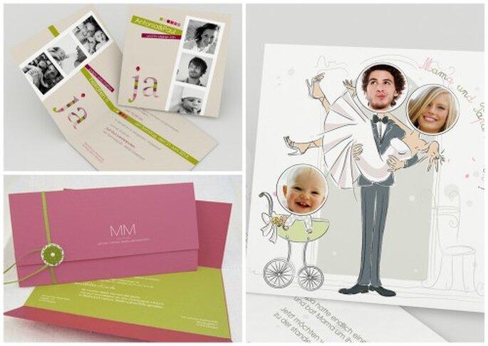 So kreative können Ihre Hochzeitseinladungen sein. Fotos: kreative-hochzeitskarten.com