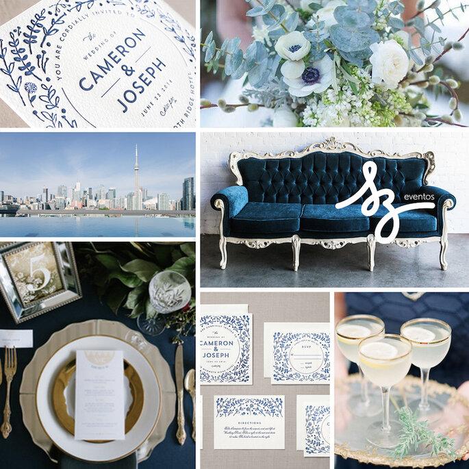 Una boda en azul clásico - Minted, Milou & Olin, Green Automns Photography & Film, Shalynne Imaging