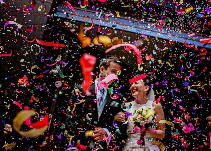 Confetti para lanzar a los novios - Alternativas para el arroz en las bodas