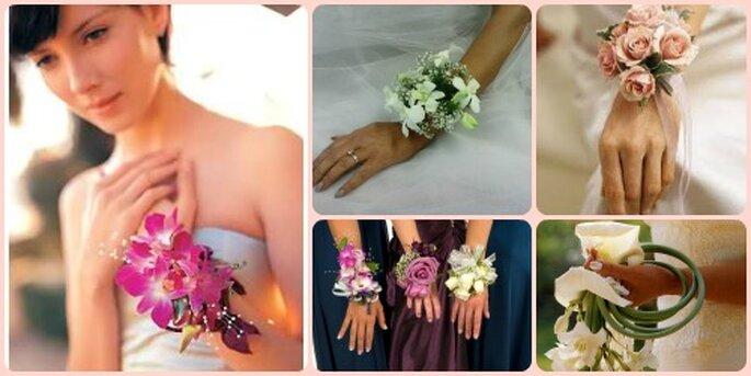 I bouquet da polso danno subito un twist vintage!