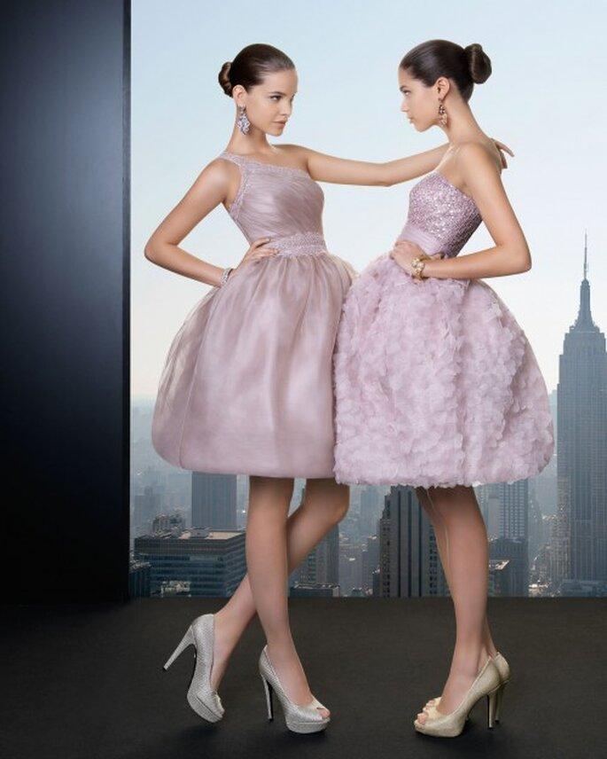 Protocolo y etiqueta para vestir en una fites. Vestidos cortos de Rosa Clará 2013