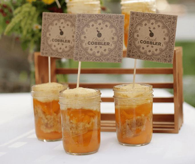 Decoración de boda con tarros de cristal - Foto Wedding Chicks
