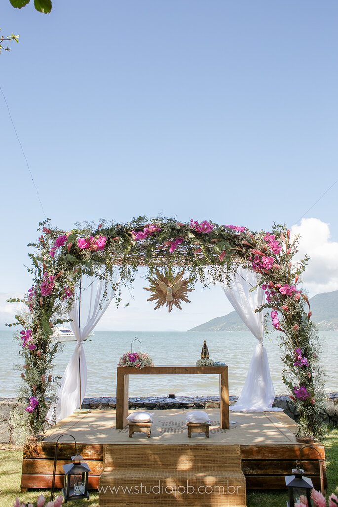 Lindo altar na praia