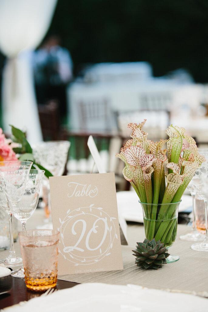Numeración de mesas - Marianne + Joe Of Marianne Wilson Photography