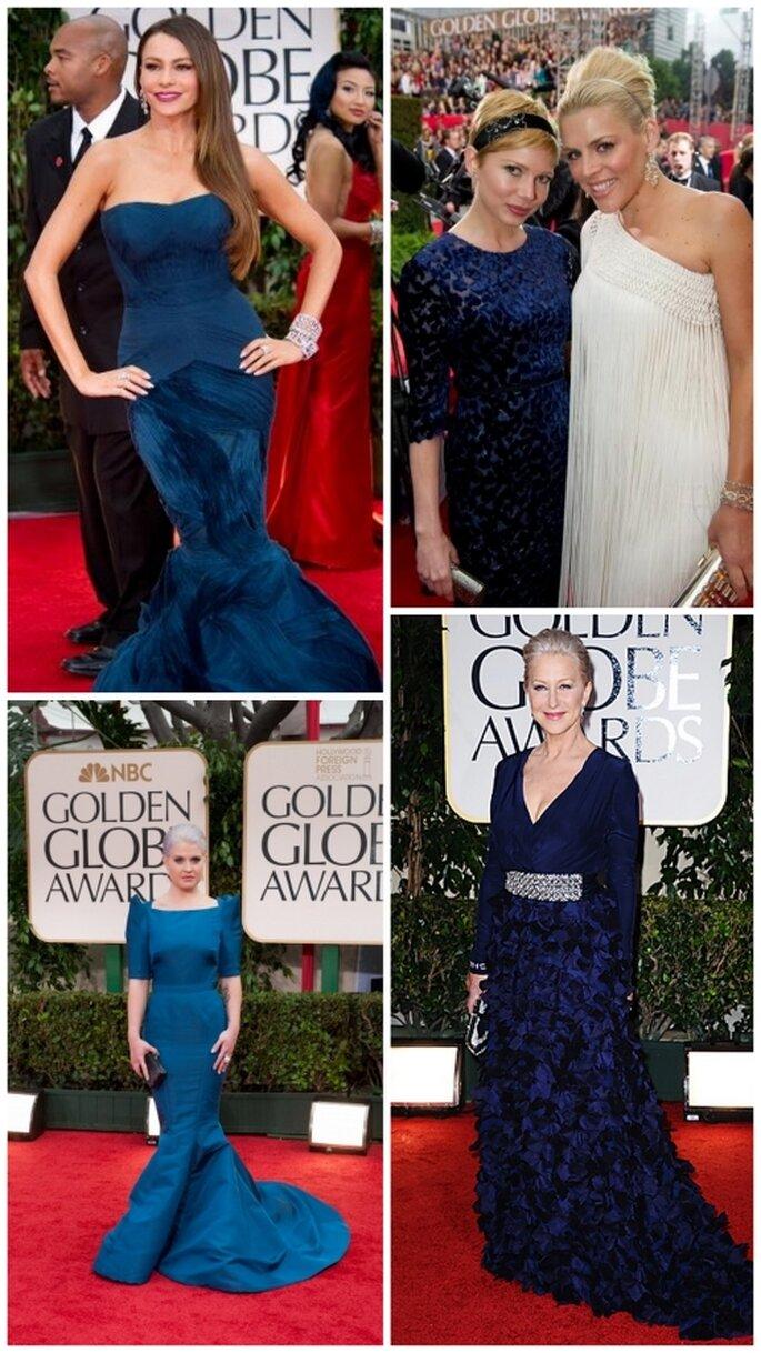 Sofía Vergara, Michelle Williams, Kelly Osborne, Helen Mirren en Golden Globes 2012