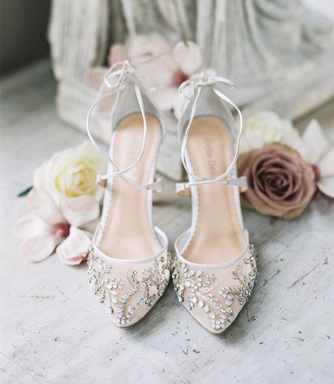Chaussures de mariée blanches