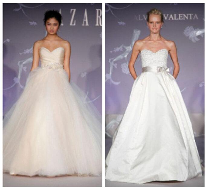 Novias princesa, tendencia 2012. Lazaro 2012 y Alvina Valenta 2012