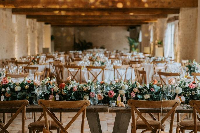 Centre de table de mariage bohème