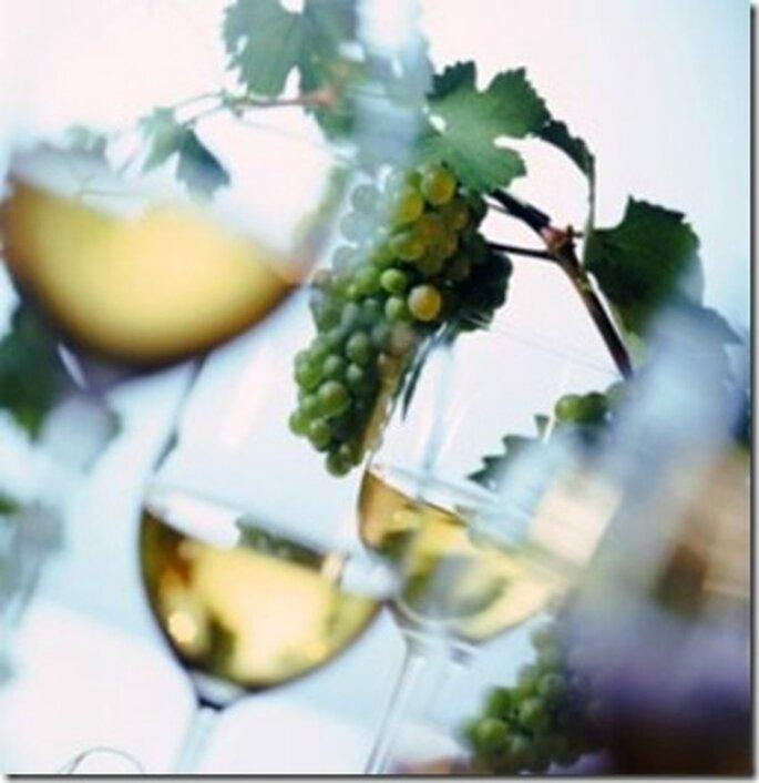 Litro de vino blanco da para 9 copas
