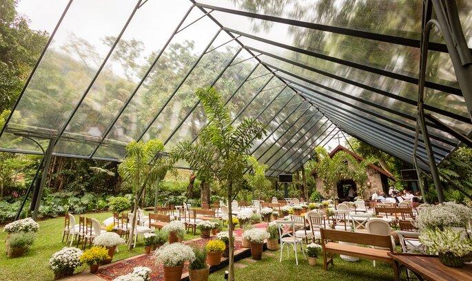 Cobertura transparente para casamentos