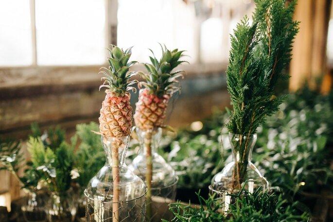 abacaxis na decoração