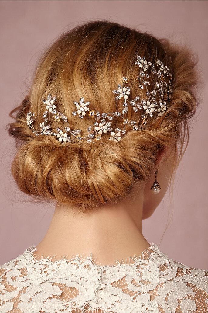 Couronne de fleurs accessoire de mariée