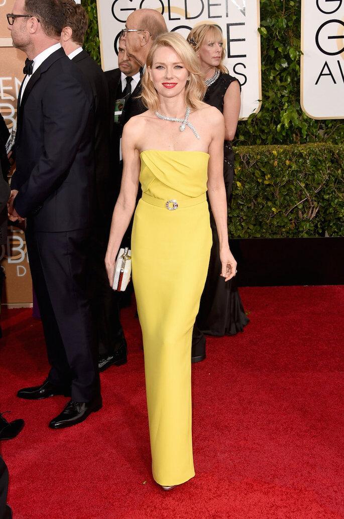 Las mejor vestidas de los Golden Globe Awards 2015 - Gucci (Naomi Watts)