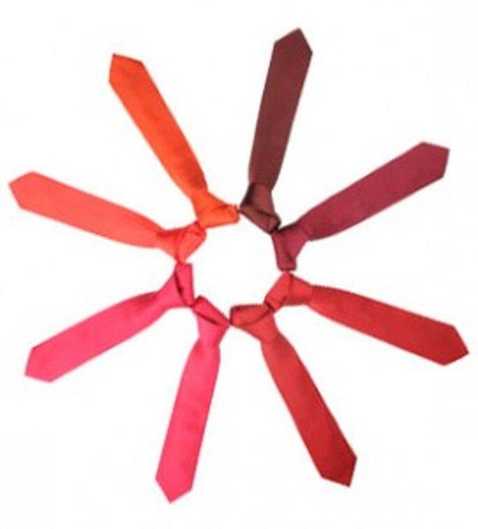 Estrella de corbatas de tonalidades rojas de SOLOiO