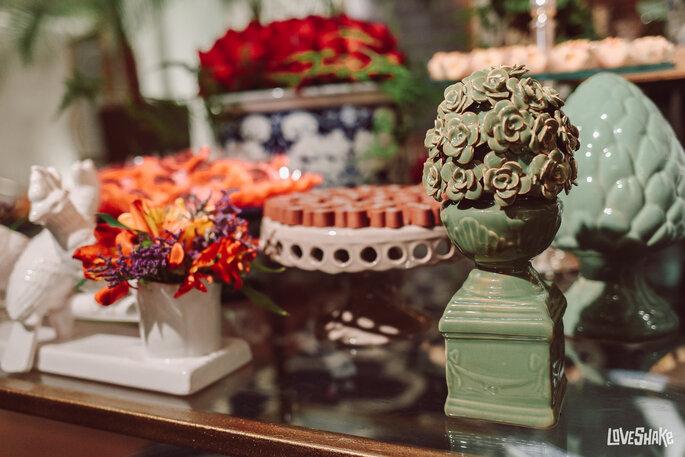 decoração mesa doces casamento