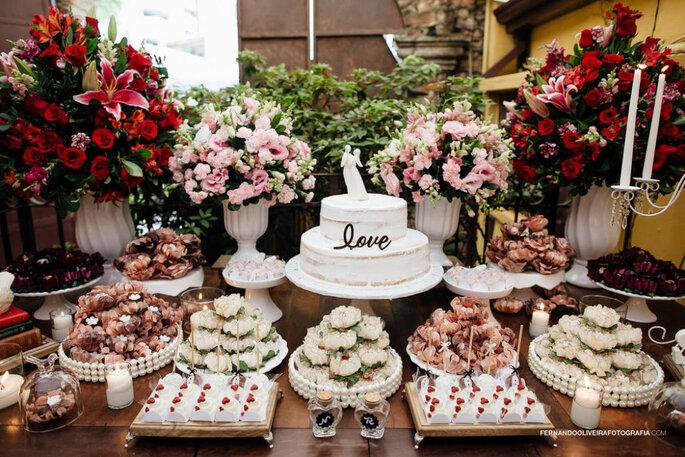 Mesa de doces vintage