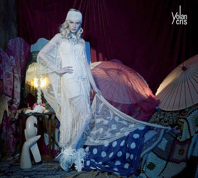 Particolarissimi, per le spose più eccentriche, pantaloni Austin by Yolan Cris 2011. Foto: Yolan Cris