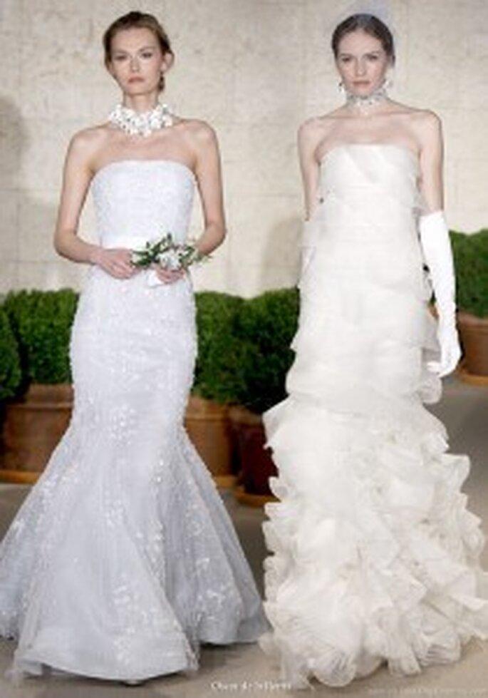 Óscar de la Renta. Vestido de novia sirena 2011