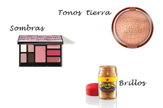 Maquillaje para deslumbrar - Fotografías: sombras Bobbi Brown, polvos de Astor y brillos de MAC