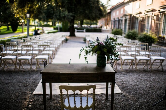 Porche de La Casa de Mónico finca para bodas en Madrid