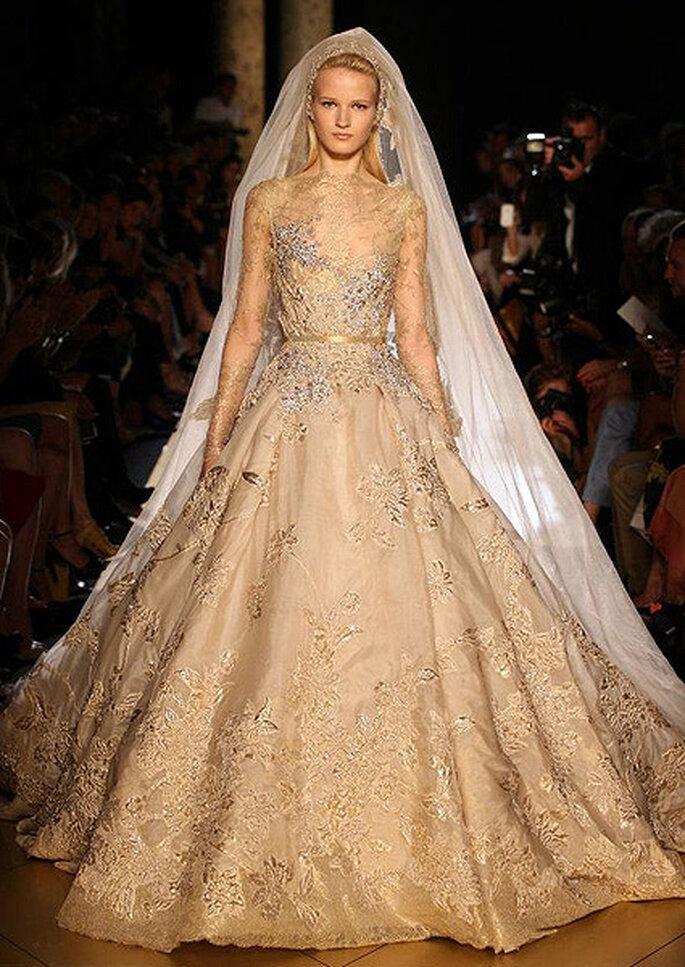 Vestido de novia de Elie Saab Alta Costura, otoño-invierno 2012-2013. Foto: Elie Saab