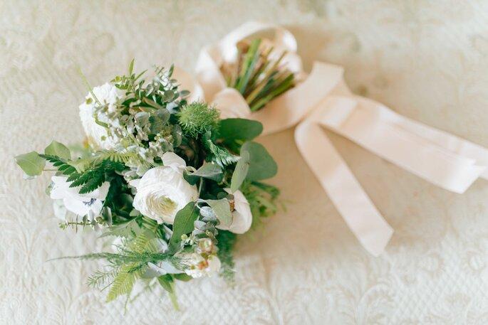Brautstrauß in Grün und Weiß