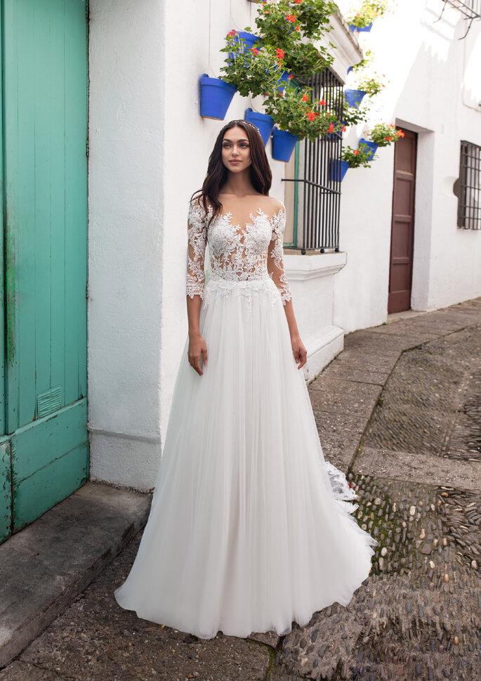 Vestidos de novia escote ilusión
