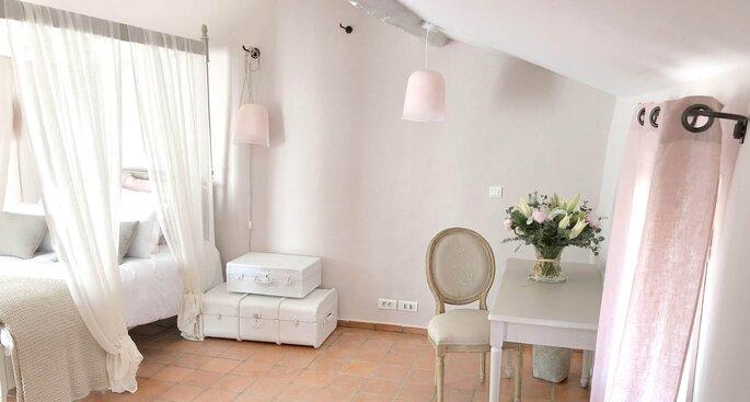 La chambre des mariés, cosy aux tons romantiques