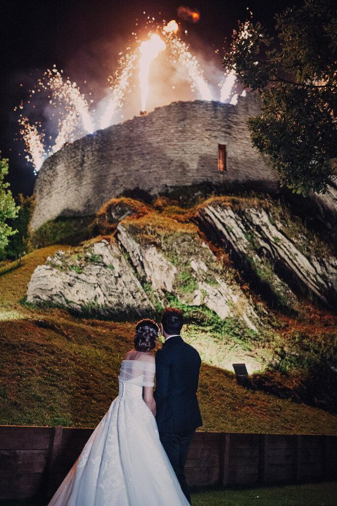 Castello di Naro - fuochi d'artificio