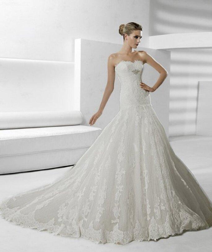 Vestido de novia con encaje. La Sposa 2012