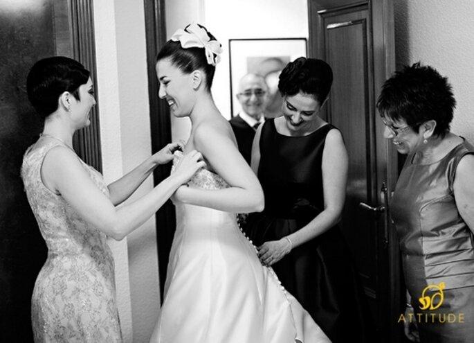 El peinado de novia recogido y alto