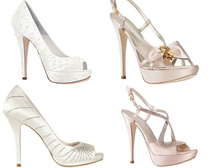 Quattro modelli in raso firmati Loriblu. Bridal Collection 2012 Foto www.loriblu.it