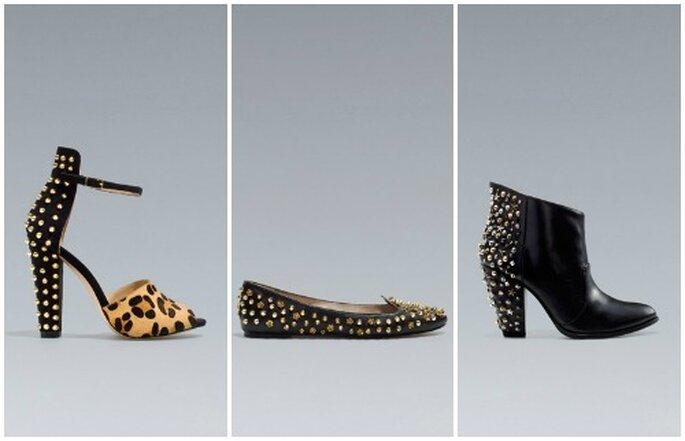 Sandalo, ballerina o stivale...purché con le borchie! Da Zara il trend è low cost. Foto: www.zara.com