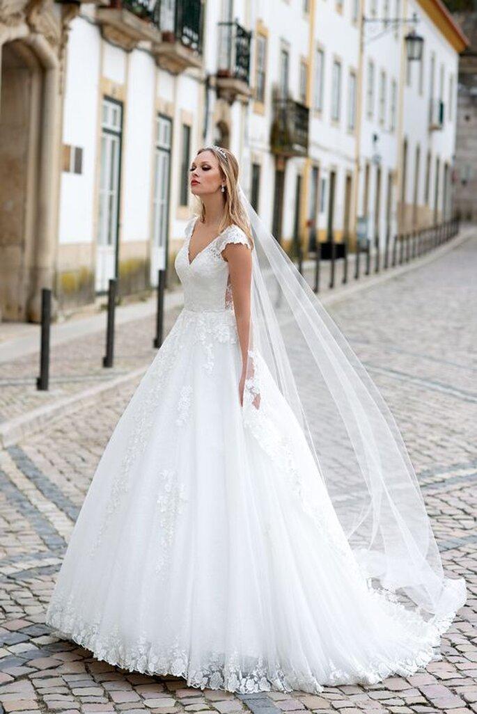 vestido de noiva romantica
