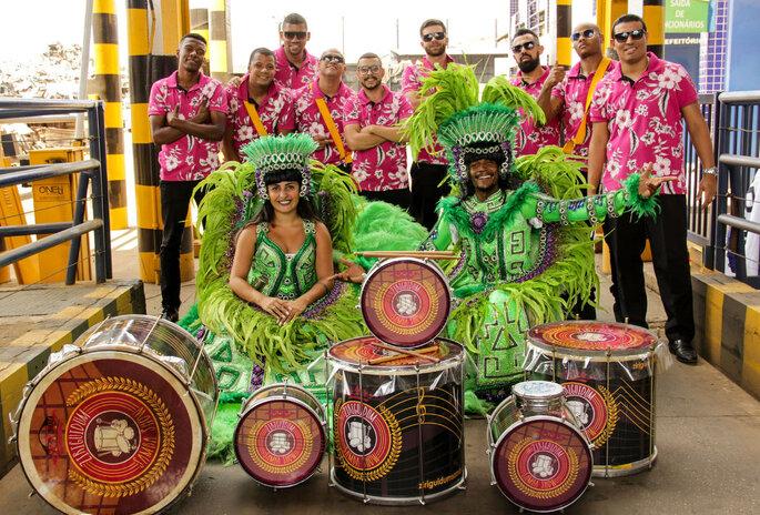 escola de samba em casamentos