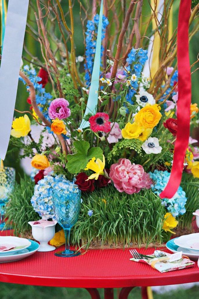 Decora tu boda con una inspiración en un jardín fantástico - Mikki Platt
