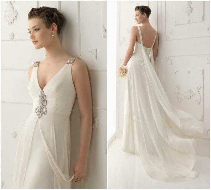 Schlichte Brautkleider trumpfen mit dem gewissen Etwas – Foto: Alma