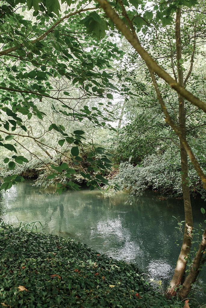 coin de nature avec une rivière adjacente au Domaine de Blanche Fleur