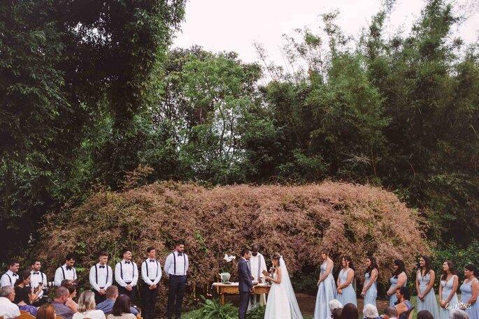 A Congeia oferece um pano de fundo natural para a cerimônia
